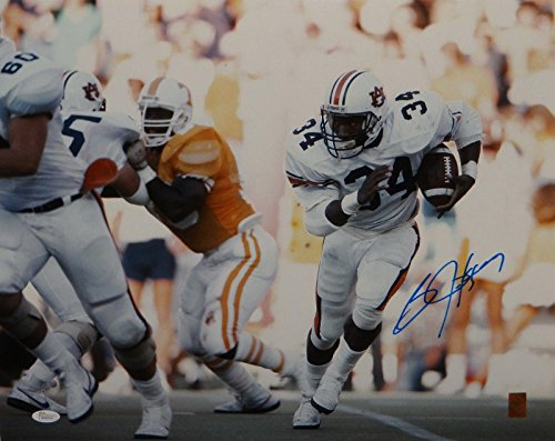Autographed Bo Jackson Picture - 16x20 Horizontal Running *Lt W - JSA Certified - Autographed College Photos Autographed Bo Jackson Photograph
