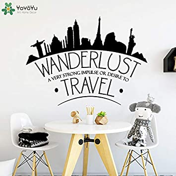Modern Travel Wall Decal Quotes Wanderlust Travel Wall