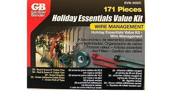 Amazon.com: Gardner Bender 171 Piece Holiday Essentials Value Kit Wire Managment: Home Improvement