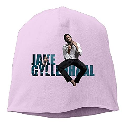 YUVIA Jake Gyllenhaal Men's&Women's Patch Beanie MountaineeringPink Cap For Autumn And Winter (Jake Sandals)