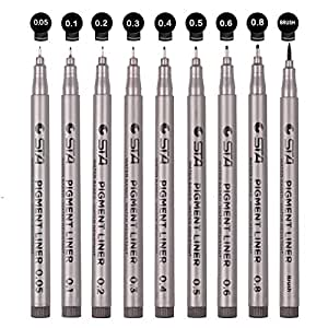 Pentel Sign Pen Stick Porous Fine Point Art Marker Pen ... |Fine Point Marker Drawings