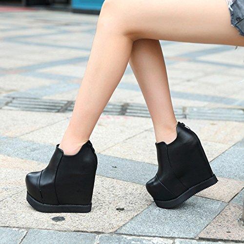 8ad7c7961 XiaoGao Un nuevo corto de 15 cm de alta zapatos de tacon de la bota ...