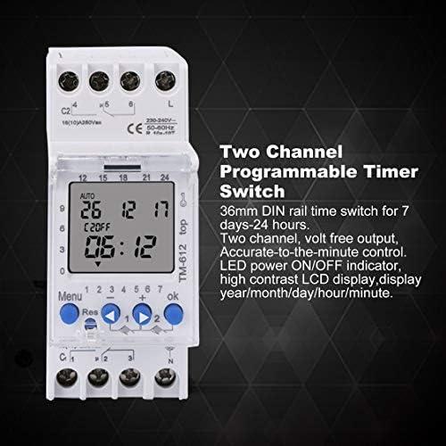 Jessicadaphne SINOTIMER 220V TM612 Temporizador de dos canales 7 ...