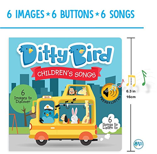 Our Best Interactive Children's Songs Book for Babies. Musical Toddler Book. Sound Books for one Year Old. Educational Toys for 1 Year Old boy Gifts. Gift for 1 Year Old Girl. Awards Winner! Blue by DITTY BIRD (Image #2)