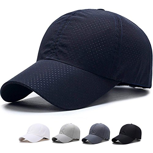 - SHANLIANG Quick Dry Sports Hat Lightweight Breathable Soft Outdoor Run Baseball Cap (C-Blue)