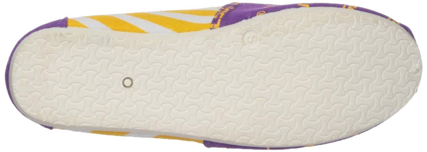 FOCO LSU Tigers NCAA Womens Stripe Canvas Shoes L