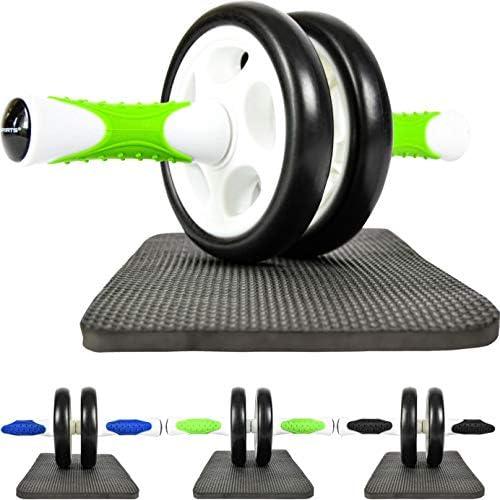 MSPORTS Bauchtrainer AB Roller Premium I Bauchtrainer mit Knieauflage I Bauchroller mit Komfortgriffen I Bauchmuskeltrainer I AB Wheel Muskeltrainer