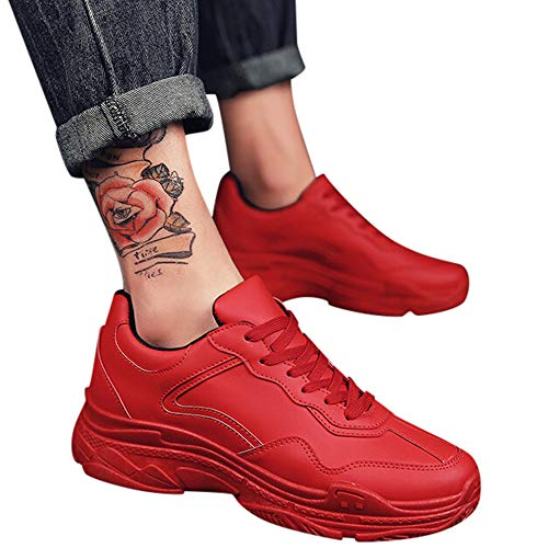 Course Sports Entraînement Chaussures Couleur De Rouge Compétition Retro Gym Baskets Shoes Chaussure Running Ciellte Fitness Homme Sneakers Dad Plates Unie pBnqT7Oxv
