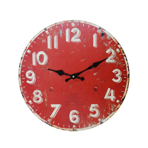 Wood Wall Clock, 13-Inch Lg Wood Clock