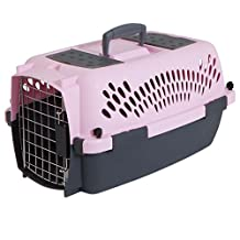 Petmate 21091 Pet Taxi Fashion Kennel, Small (Light Pink/Dark Pink)