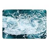 harley davidson house floor mats - Turquoise Seawater -Doormat Entrance Mat Floor Mat Rug Indoor/Bathroom Mats Rubber Non Slip (30