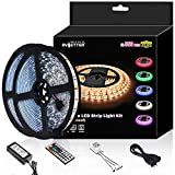 Led Strip Light Waterproof 600leds 32.8ft 10m Waterproof Flexible Color Changing RGB SMD 5050 600leds LED Strip Light Kit with 44 Keys IR Remote Controller and 12V Power Supply: more info