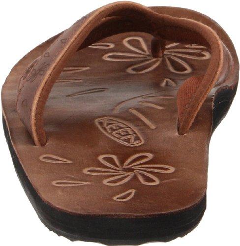 Keen FLORENCE II - Chanclas de cuero mujer marrón - Braun (FRBR)