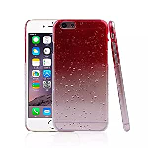 iPhone 6 Case, BEST- Eshop Red / Clear Raindrop Waterdrop Raindrop Hard Plastic Skin Back Cover Cases for Apple iPhone 6 4.7 inch