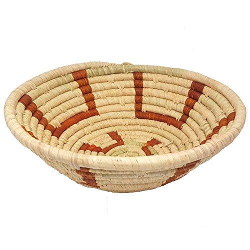 Handmade African Basket Natural Banana Fiber Mary Basket Medium, Fair Trade, (Fair Trade Banana)