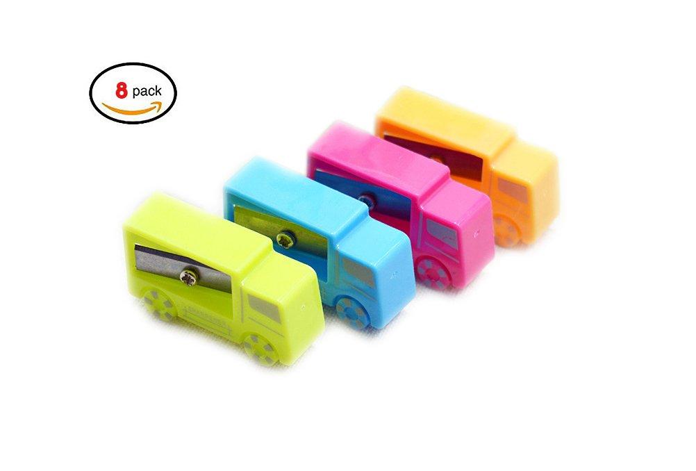 Kids Pencil Sharpener -Random Color Plastic Manual Pencil Sharpener- Small and Durable - Kid Friendly - Artist, Students, and Professionals (style 1) Vanlemn etc