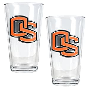 Brand New Oregon State Beavers NCAA 2pc Pint Ale Glass Set
