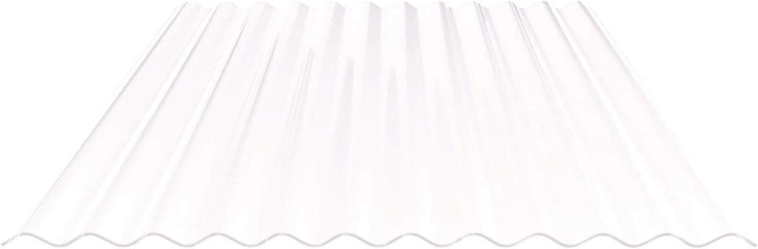 Farbe Glasklar Profil 76//18 Lichtplatte Wellplatte Lichtwellplatte Breite 1116 mm St/ärke 0,9 mm Material Polycarbonat