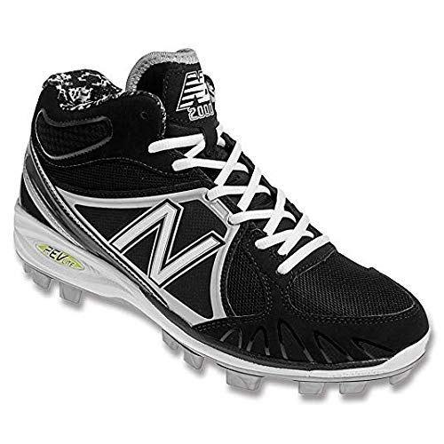 New Balance Men's MB2000 TPU Molded Mid-Cut Cleat, Blue/White-6.5 - Mid Cut Cleat