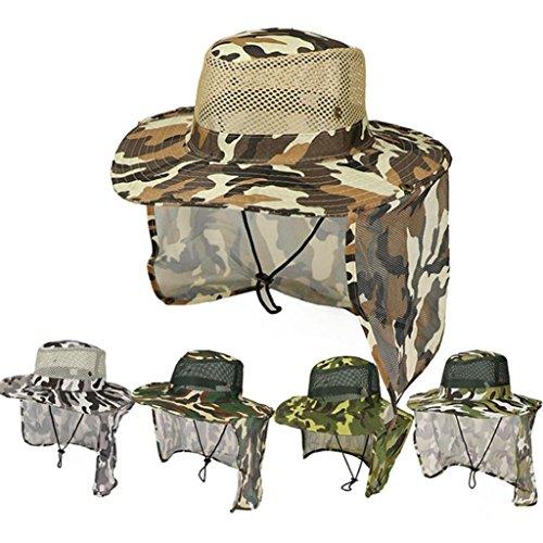 Oscuro Protección Ancha longyitrade Verde Senderismo caqui para al para Solar Gorro Aire el Libre Cuello Pesca Gorra Hombre a0WaqZpB