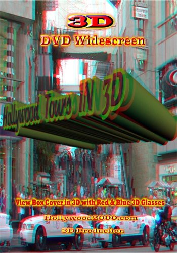 Hollywood Tours IN 3D For Anaglyph Red & Blue 3D Glasses ()