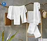 FBTS Basic Hand Towels 6 Packs White 16x31 Inches Luxury Towels Highly Absorbent Extra Soft Professional Grade Five-Star Hotel Quality