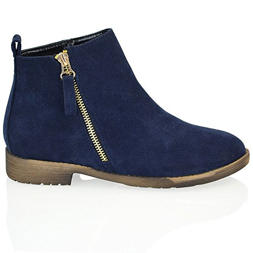 navy blue ankle boots - 8
