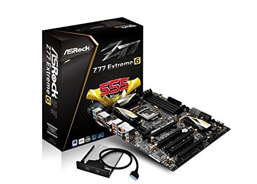 AS Rock LGA1155 DDR3 SATA3 USB3.0 Quad CrossFireX and Quad SLI A GbE ATX Motherboard Z77 EXTREME6 (Best 1155 Sli Motherboard)