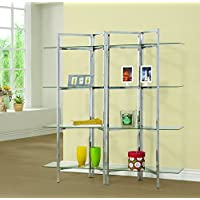 Coaster 801019 Home Furnishings Bookcase, Chrome