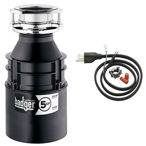 InSinkErator-Badger-5XP-34-HP-Household-Garbage-Disposer-and-Power-Cord-Kit-Bundle