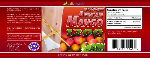 Super African Mango Extract 1200mg 60ct with Real Pure Mango Extract