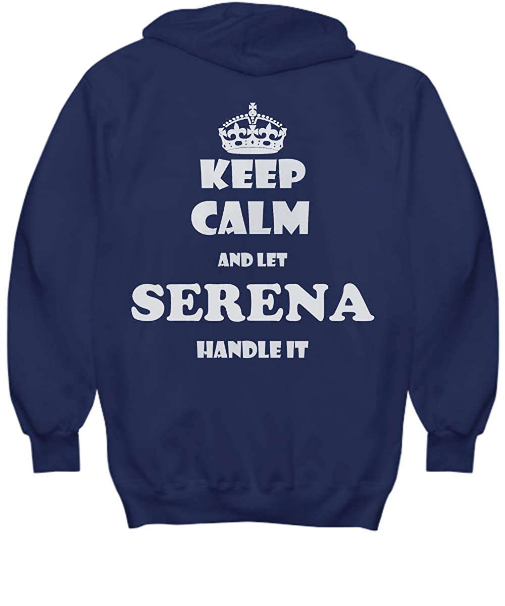 2 Sides Keep Calm and LET Serena Handle IT with Default Size 2XL White