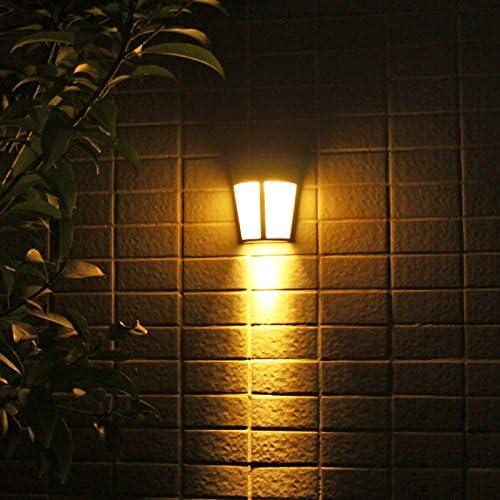Lámpara Solar de, Luz de la Pared Solar 6 LED Jardín al Aire Libre Luz del jardín Cerca de la Cerca Cerca Luz Luz Estilo Europeo Adecuado para jardín, Patio, etc,warmlight: Amazon.es:
