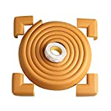 Tritina Corner Guards and Edge Bumpers - 2.2m / 7ft [ 6.5ft Edge Cushion + 4 Corner Cushion] Premium Childproofing Protector, Child Safety, Home Safety Mamami (Beige)