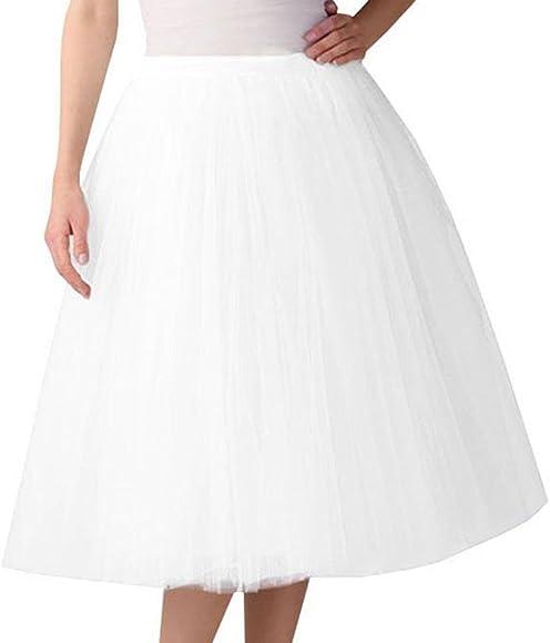 Falda de Tutu Mujer, ✿ Zolimx Malla de Tul En Capas de Dama de ...