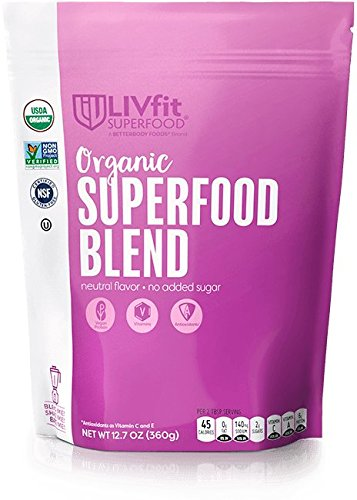 (LIVfit Superfood, Organic Superfood Blend Powder, Produced by BetterBody Foods, 360)