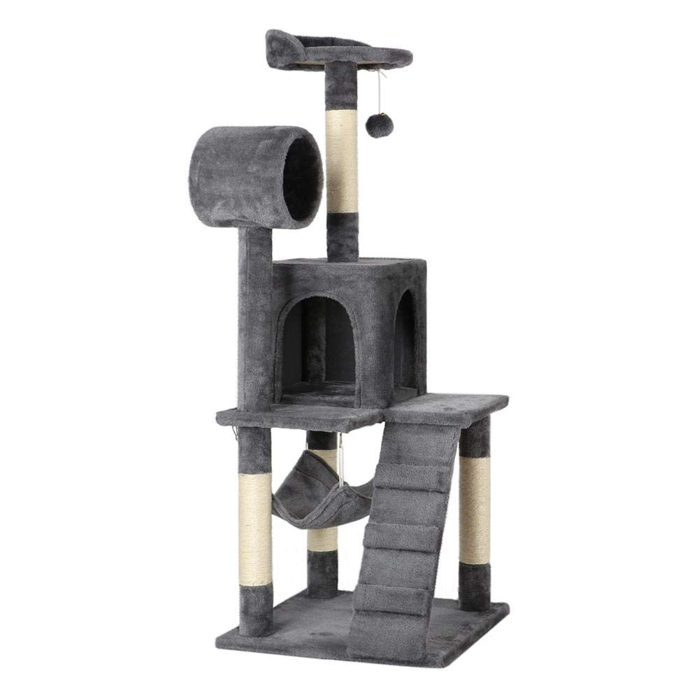Yaheetech Cat Tree Tower Kitten Condo Scratching Post with Hammock Tunnel 51'' by Yaheetech (Image #1)