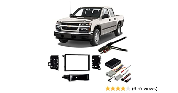 Compatible with Chevy Colorado 2004-2012 Double DIN Harness Radio Install on
