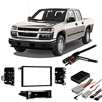 51vehyaFg5L._SY355_ amazon com fits chevy colorado 2004 2012 double din harness radio 2012 chevy colorado trailer wiring harness at gsmx.co