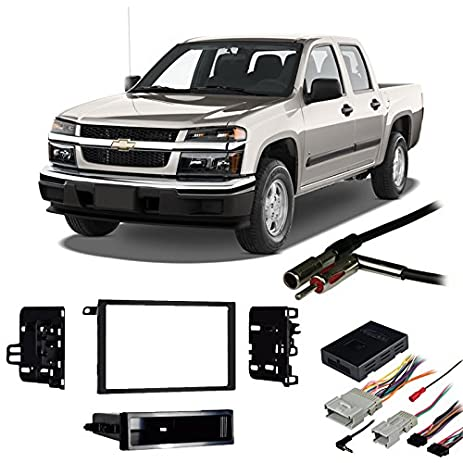51vehyaFg5L._SY463_ amazon com fits chevy colorado 2004 2012 double din harness radio colorado radio wiring harness at readyjetset.co