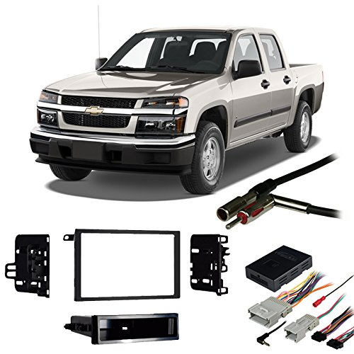 Fits Chevy Colorado 2004-2012 Double DIN Harness Radio Install Dash Kit (Harness Onstar Adapter)