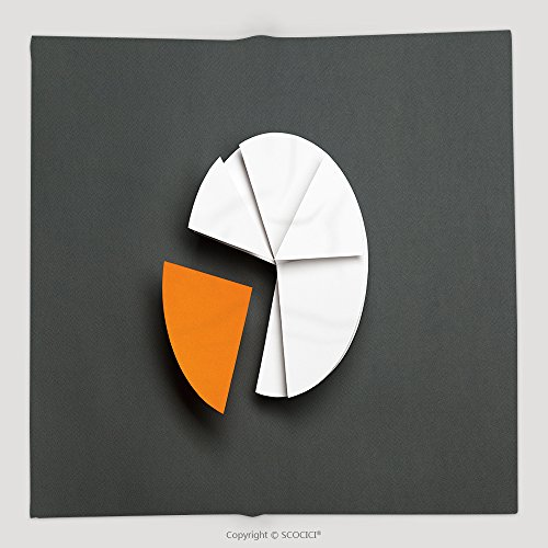 Custom Close Up Of Business Pie Chart Isolated On Grey One Part Of Diagram Is Yellow Copyspace 226263622 Soft Fleece Throw - Parts Of Diagram Bridge With