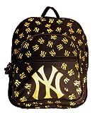 MLB New York Yankees Pebbles Backpack, Medium, Blk/Gold