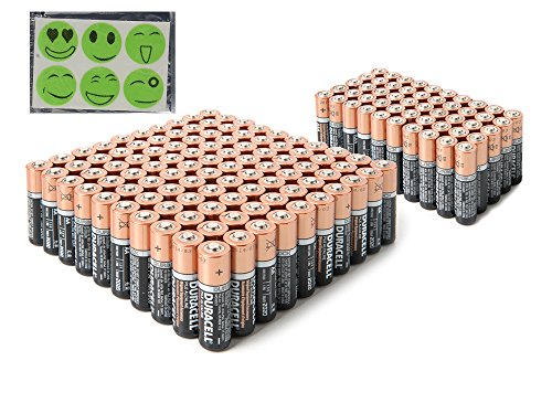 Price comparison product image Duracell DuraLock Coppertop Alkaline Batteries - Plus Free Gift - Choose Your Pack (20 AA + 20 AAA)