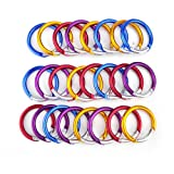 GOGO 24 PCS Aluminum Round Carabiners in Assorted Colors, Gift Idea, Outdoor Stuffs