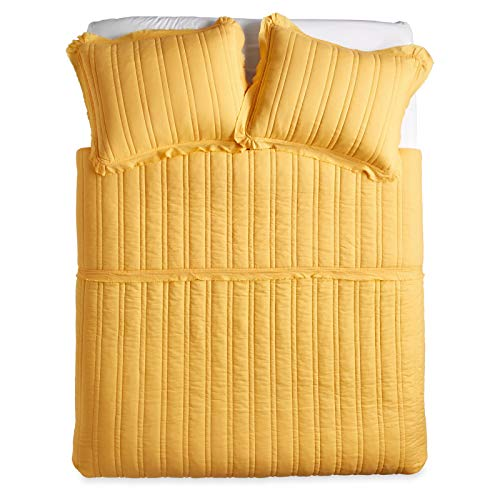 The Pioneer Woman Double Stitch Quilt King Yellow by The Pioneer Woman