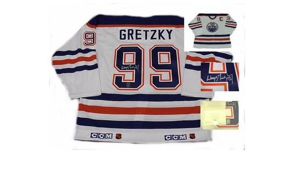 new style a7464 71fa6 Signed Wayne Gretzky Jersey - Pro Weight WGA - Autographed ...