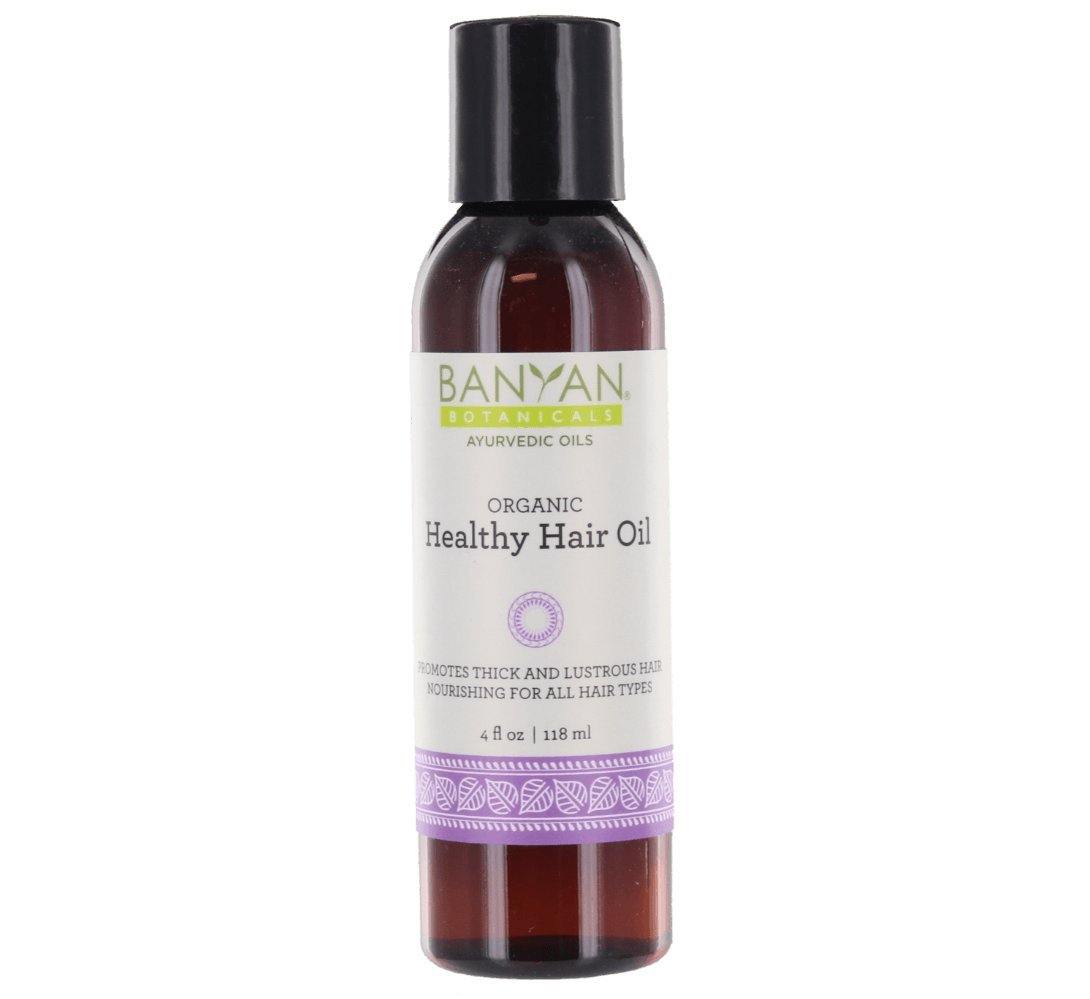 Banyan Botanicals Healthy Hair Oil - Certified Organic, 4 oz - Promotes Thick and Lustrous Hair, Nourishing for All Hair Types