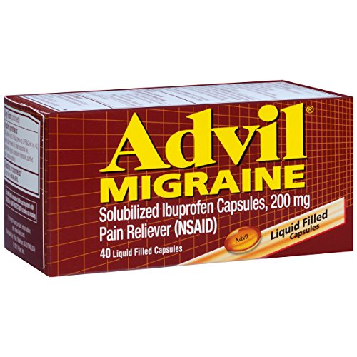 Advil Migraine Pain Reliever, 200mg Solubilized Ibuprofen (40-Count Liquid Filled Capsules) by Advil