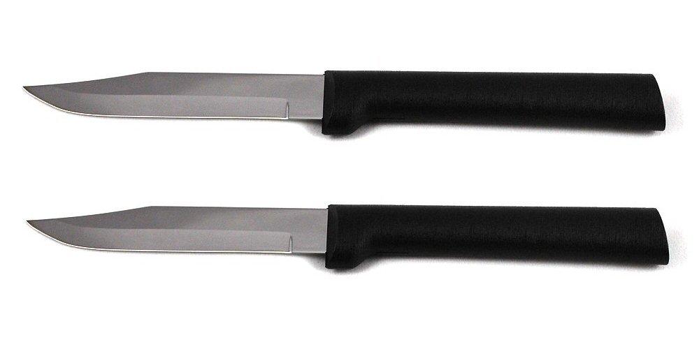 Rada Cutlery Regular Paring Knife, Black Handle, Pack of 2